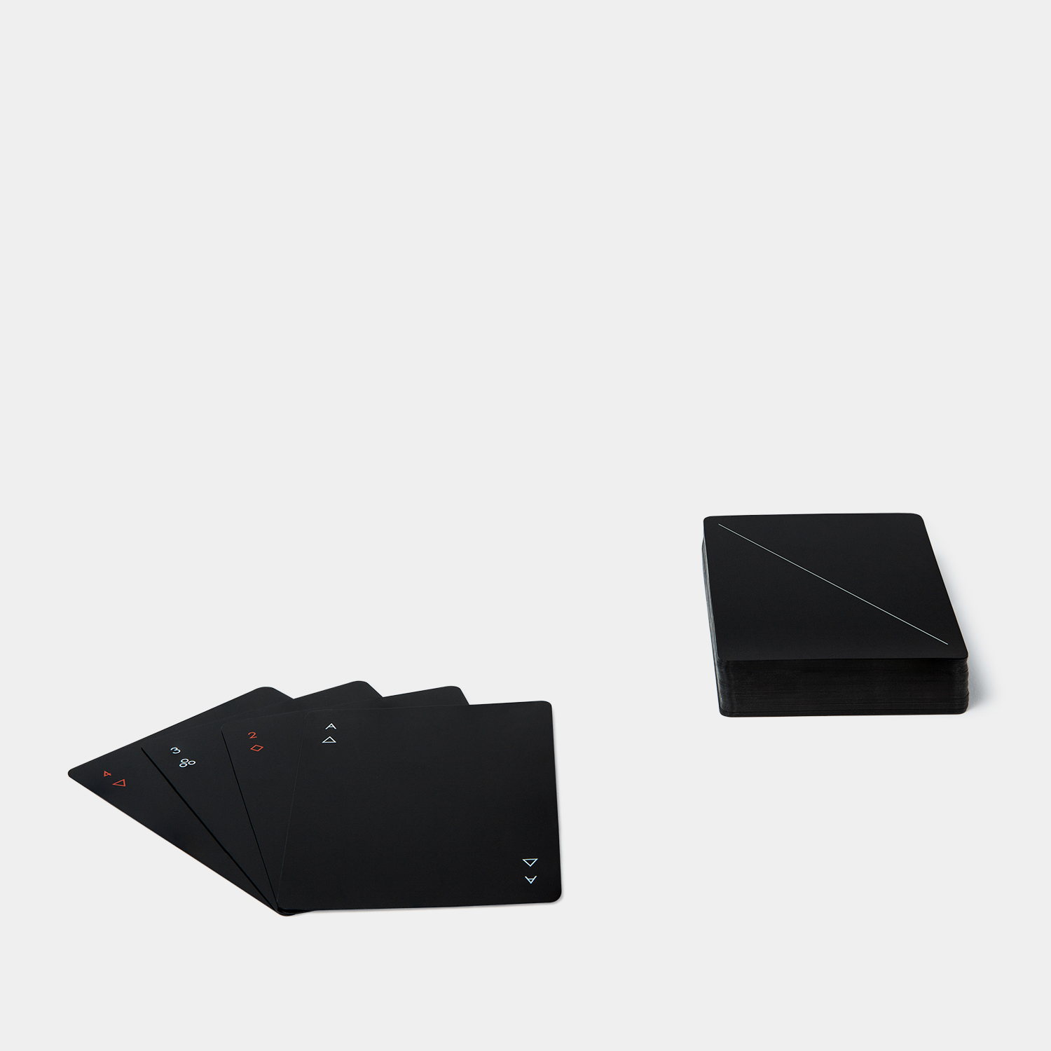 Areaware Minim Playing Cards Black
